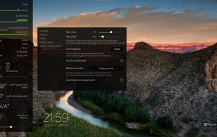 sys Dash skin for Rainmeter with cpu ram stat and network meter
