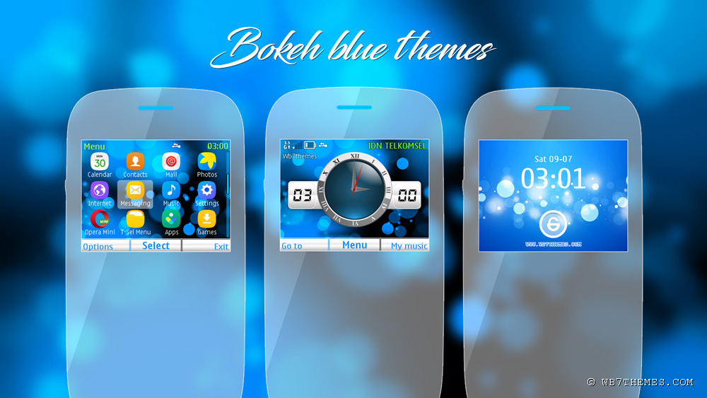 Bokeh Blue theme Asha 302