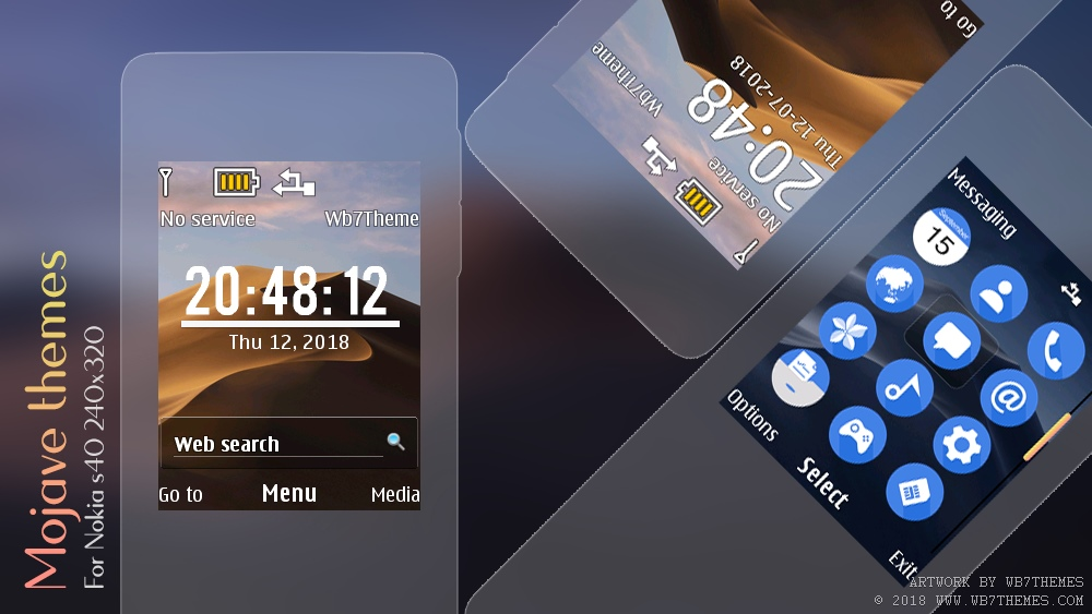 Mojave desert digital clock widget theme X2-00 301 240×320 s40
