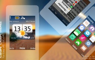 Nature desert digital clock widget theme s40 240x320 X2-00 X3-00 6300