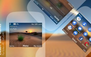 Nature Desert theme Nokia C3-00 Asha 302 320x240 s406th