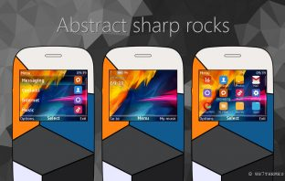 Abstract sharp rocks theme s40 320x240 X2-01 C3-00 Asha 210 302 205