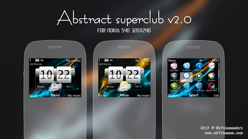 Abstract Superclub theme C3-00 X2-01 Asha 201