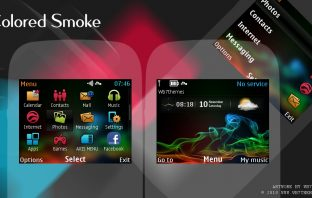 Colored smoke flash clock theme C3-00 X 2-01 Asha 302 200 201 205 210