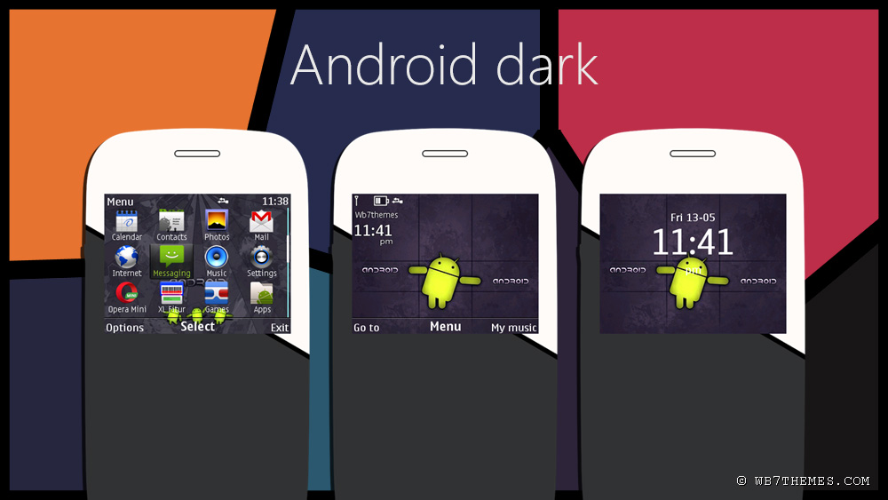 Android dark free theme android style for nokia Asha