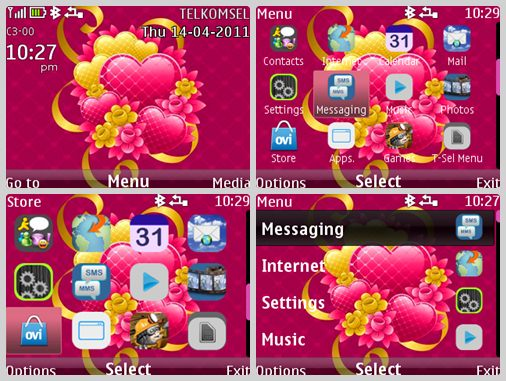 Flower-2520pink-2520theme-2520for-2520NOKIA-2520c3-00-2520-2526-2520X2-01