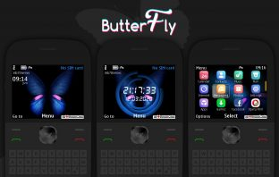 Butterfly theme for Nokia C3 00