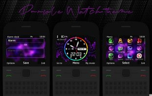 Theme Purple for Nokia C3-00 X2-01 Asha 200 Asha 302