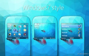 Windows7 style theme Nokia Asha 302 Asha 200 320x240 s406th