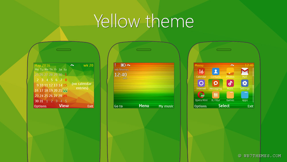 Yellow theme Nokia C3-00
