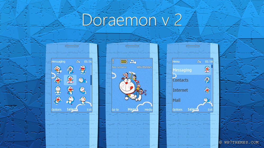 Screenshot doraemon theme for nokia s40 240x320 s406th s405th