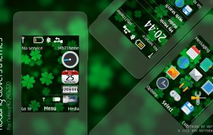 Floating clover swf widget theme X2-00 X3-00 Asha 206 301 515 240x320 s40