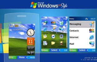 Windows xp style swf theme X2-00 515 301 Asha 206 207 208 240x320