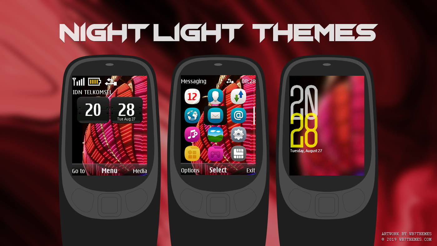 Night lights swf clock widget theme X2-00 Asha 515 301 206 207 208 2700