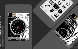 Black White theme 6303i X2-00 X3-00 Asha 208 515 240x320 s40