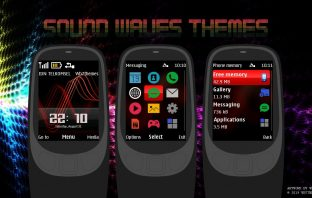 Sound waves digital clock theme X2-00 X2-02 6700 2700