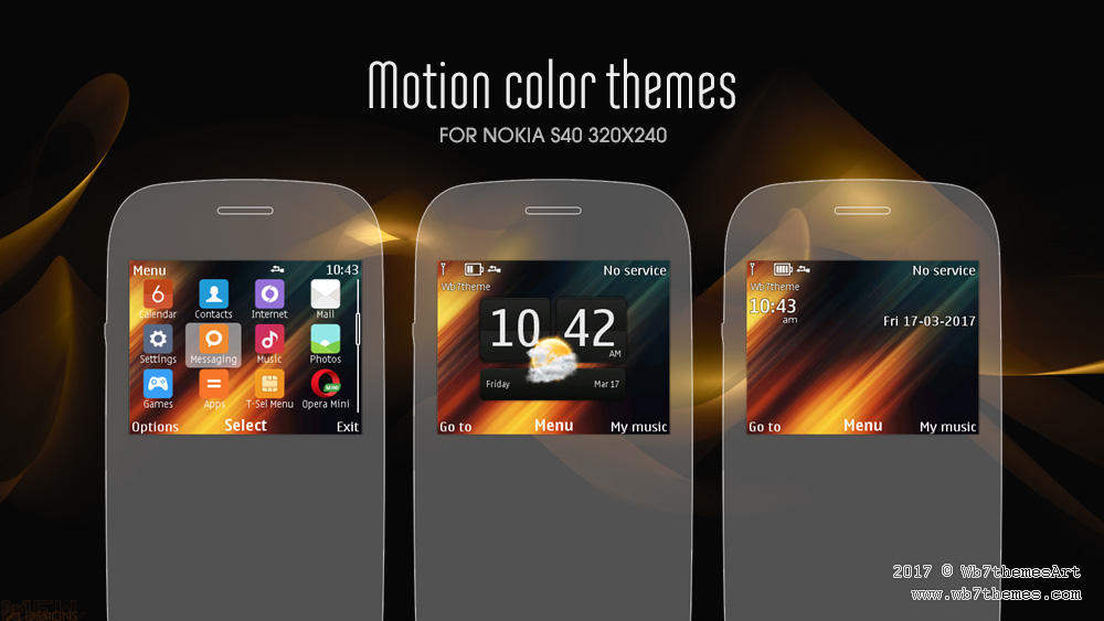 Nokia C3-00 Asha 200 X2-01 theme motion colors