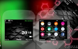 3D Cube digital clock theme Asha 302 210 X2-01 C3-00 200 201 205 s40