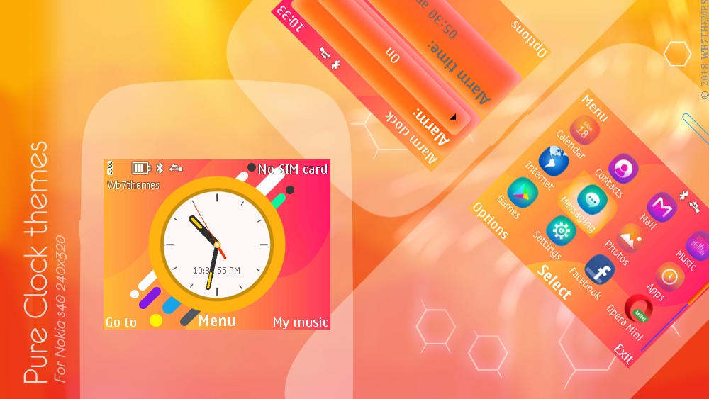 Pure analog clock theme X2-01 C3-00 Asha 200 201 302 210