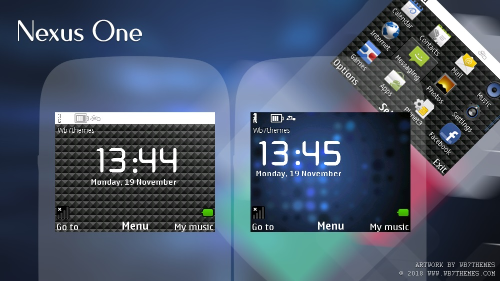 Nexus one flash lite theme C3-00 X2-01 Asha 200 201 302 210 205