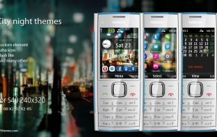 City theme for Nokia X2-00 X2-02 240×320