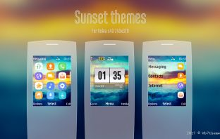 Sunset theme for C2-01 X2-00 240x320