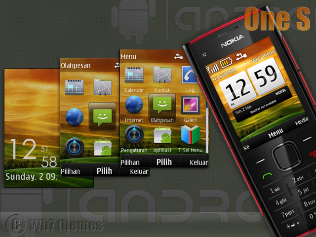 HTC one S theme X2-00 240x320 s406th wb7themes.com