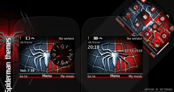 Spiderman flash lite clock theme C3-00 X2-01 Asha 302 210 205 200 201