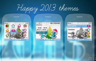 Happy 2013 swf digital clock theme Asha 201 200 210 205 302 C3-00 X2-01