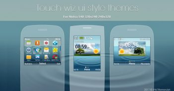 Touch Wiz theme C3-00 X2-00 live widget