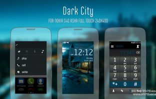 Dark city theme Asha full touch Asha-311 Asha-305