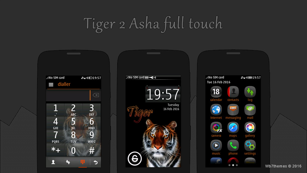 Tiger 2 asha full touch 240x400 (c)Wb7themes