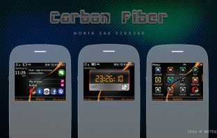 Carbon Fiber Digital Clock Themes C3