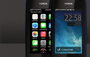 iPhone 5 style theme for Nokia Asha full touch 311 310 309 308 306 305