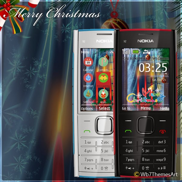 christmas theme nokia x2-00