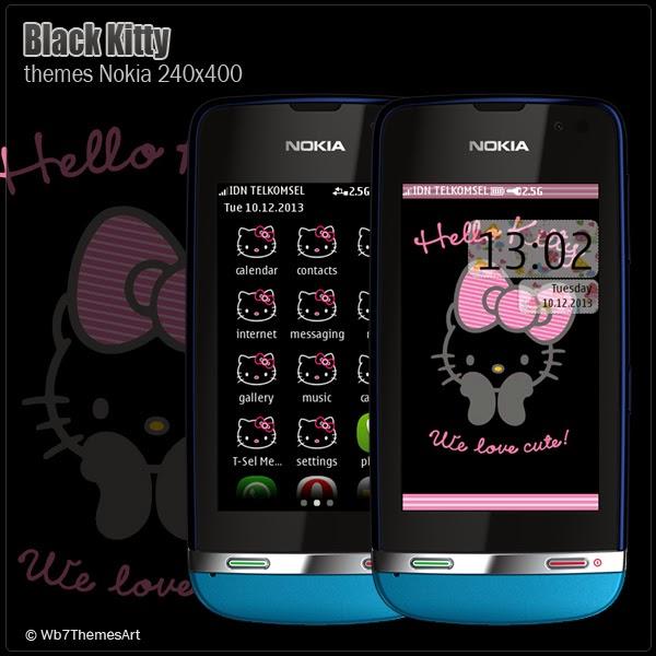black kitty themes asha full touch 240x400