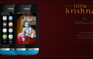 Little Krishna theme Asha 305 310 full touch
