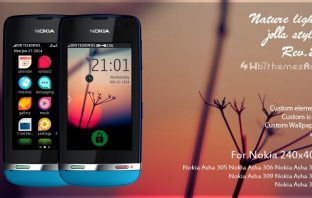 Jolla style rev 2 theme Asha 309 311 full touch