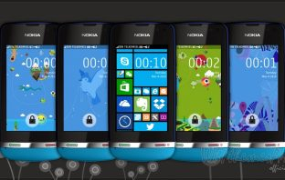 Windows phone 8 series theme Asha 310