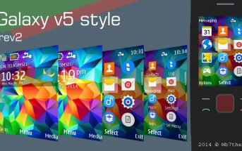 Galaxy v5 style rev 2 theme s40 240x320