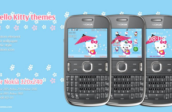 Hello Kitty Blue Theme Asha 205 Asha 210 Asha 200 Asha 201 Asha 302