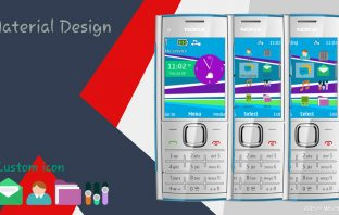 Flat design theme X2-00 Asha 207 208 240×320 s40