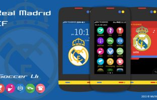 Real Madrid theme Asha 311 310 309 308 306 305