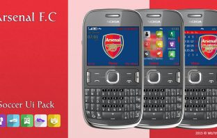Arsenal F.C theme Asha 302 205 210 C3-00 X2-01 200 201 s40 320x240
