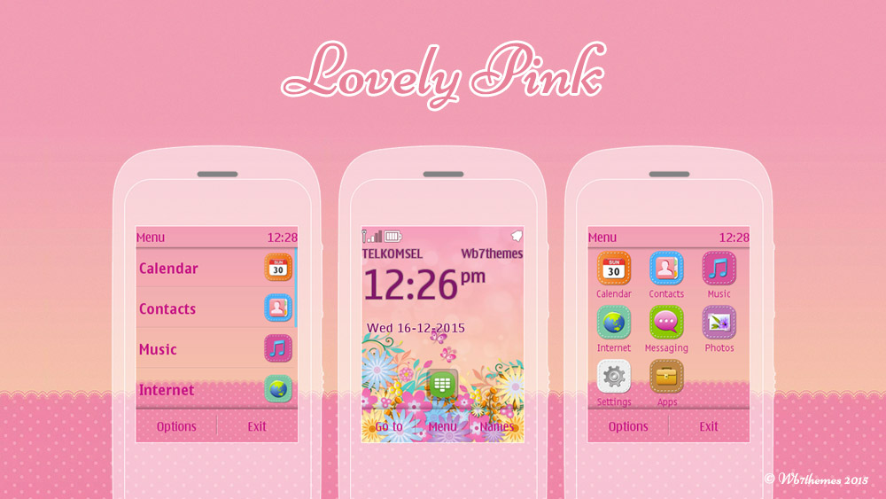 Lovely pink themes Asha 300 303 C2-02 C2-03 6303  x3-02 c3-01 touch typ