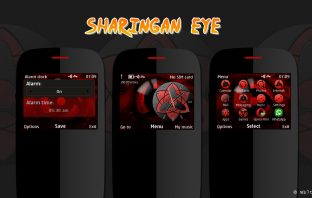 Sharingan eye theme Asha 210 205 201 200 302 C3-00 x2-01 swf clock