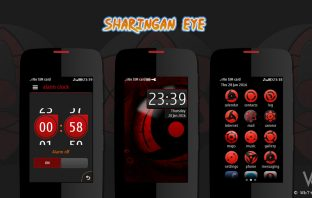 Sharingan eye theme asha 311 310 309 308 306 305 full touch