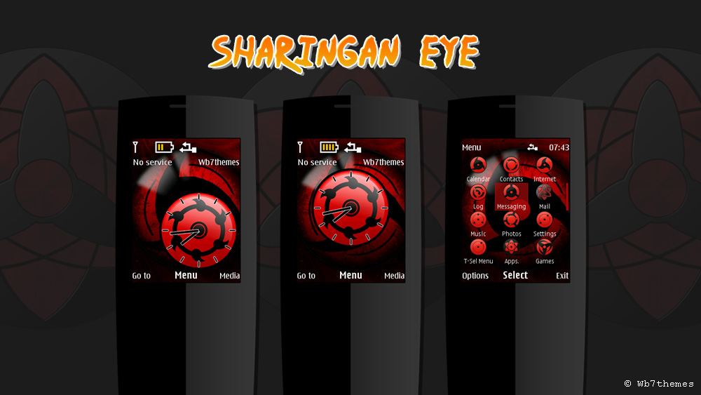 Sharingan eye theme X2-00 X3-00 X2-02 X2-05 6700 5130 206 207 208