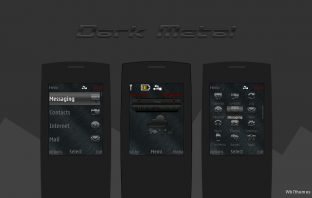 Dark metal theme X2-00 X2-02 X2-05 X3-00 Asha 206 207 208 301 515