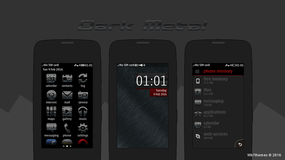 Dark brush metal theme full touch